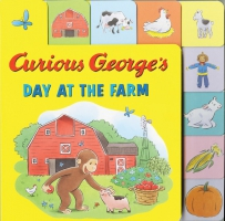 Jacket Image For: Curious George's Day at the Farm (tabbed lift-the-flap)