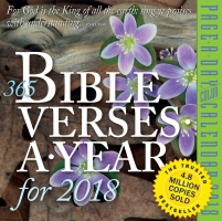 Jacket Image For: 365 Bible Verses-A-Year Page-A-Day Calendar 2018