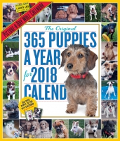 Jacket Image For: 365 Puppies A Year Picture-A-Day Wall Calendar 2018
