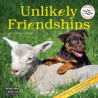 Jacket Image For: Unlikely Friendships Mini Wall Calendar 2018