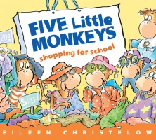 Jacket Image For: Five Little Monkeys Shopping for School
