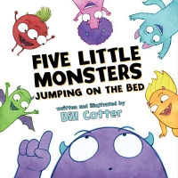 Jacket Image For: Five Little Monsters Jumping on the Bed