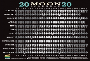 Jacket Image For: 2020 Moon Calendar Card (5 pack)