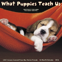Jacket Image For: What Puppies Teach Us 2018 Wall Calendar