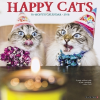 Jacket Image For: Happy Cats 2018 Wall Calendar